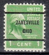 USA Precancel Vorausentwertung Preo, Bureau Ohio, Zanesville 804-61 - Vereinigte Staaten