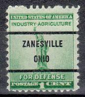 USA Precancel Vorausentwertung Preo, Bureau Ohio, Zanesville 899-71 - Vereinigte Staaten
