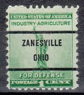 USA Precancel Vorausentwertung Preo, Bureau Ohio, Zanesville 899-71 - Préoblitérés