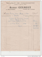 Travaux De Maçonnerie. Ciment Et Béton Armé. Albert Gouault à Flers De L 'Orne. - Autres
