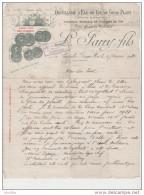 Distillerie D'Eau De Vie De Gros Plant.Fabrique Spéciale De Vinaigre De Vin. Medaille D'Argent Paris 1900. - Alimentaire