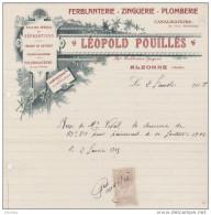 Ferblanterie-Zinguerie-Plomberie: Léopold Pouilles à Alzonne (Aude).Atelier Spécial De Réparations. - France
