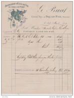 Distillerie D'Eaux De Vie De Cidres & De Poirés.Médaille D'Or Paris 1894.G.Buat à Pré En Pail.(Mayenne). - Alimentaire