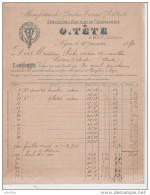 Manufacture De Boulons,Ecrous,Rivets,Etc.Spécialité D'Articles De Carrosserie:O.Tête à Lyon. - France