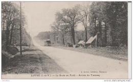 Liffre-La Route En Forêt-Arrivée Du Tramway.Sorel Edit.Rennes. - Autres Communes