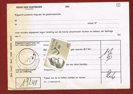 Velghe 50 Fr Met T Op Formulier Douaneafrekening Antwerpen Tol 1985 - Taxes