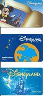 3 Cartes Magnétiques DISNEYLAND PARIS (D 388) - Disney