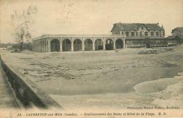 Dép 40 - Capbreton Sur Mer - Etablissement Des Bains Et Hôtel De La Plage - état - Capbreton