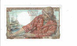 Banque De France Billet Vingt 20 Francs Type Pecheur 1942 - 72063 Y 55  Bretonnes Calvaire - 1871-1952 Anciens Francs Circulés Au XXème