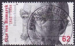 ALLEMAGNE ALEMANIA GERMANY DEUTSCHLAND BUND  2015 Otto Von Bismarck, 1815-1898  MI 3145 YV 2956 - BRD
