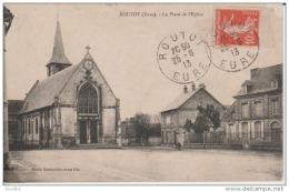Routot-La Place De L'Eglise-Cliché Douthwaite. - Routot