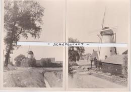 LILLO-KRUISWEG?-ANTWERPSE POLDERS-WINDMOLEN-MOULIN-2 ORIGINELE FOTO'S-JAREN + -1964-65 - Autres