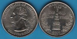 USA QUARTER DOLLAR 2000 D MARYLAND - Federal Issues