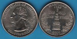 USA QUARTER DOLLAR 2000 D MARYLAND - 1999-2009: State Quarters