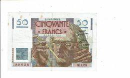 Banque De France Billet Cinquante 50 Francs Type Le Verrier 1946 - 88838 M 128 Neptune - 1871-1952 Circulated During XXth