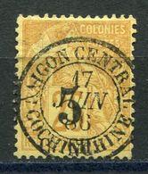 COCHINCHINE N° 3 AVEC OBLITERATION SAIGON-CENTRAL 17 JUIN 86 COCHINCHINE - Cochinchine (1886-1887)