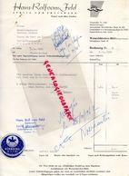 ALLEMAGNE-NURNBERG-WERMELSKIRCHEN -19-CORNIL-RARE LETTRE HANS ROLF VOM FELD-SPRITZ UND PRESSWERK- GARNIER JOUETS-1962 - Old Professions