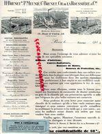 75-PARIS-BEAUMONT-SAINT ETIENNE- LE QUESNE-RARE LETTRE H. BRUNET- P. MEUNIE- CH. DE LA ROUSSIERE-TISSUS- RUE UZES-1932 - Textile & Clothing