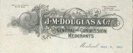 Canada - Montréal. Entête 1901 -  J.M.Douglas & C°.General And Commission Merchants. - Canada