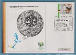 FIFA FOOTBALL DEUTSCHLAND 2006 WM STADT LEIPZIG - FDC: Enveloppes