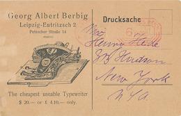 LEIPZIG - GEORG ALBERT BERBIG - LEIPZIG-EUTRITZSCH 2 - PETZSCHER STRASSE 14 (MACHINE A ECRIRE) - Leipzig