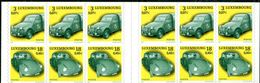 """LUXEMBOURG  2001  MNH  -  """" VOITURE DE LA POSTE / POST's CAR """"  -  1  CARNET / BOOKLET / 2 SCANS - Carnets"""