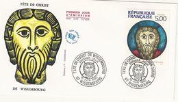 France FDC Enveloppe 1er Jour - Tête De Christ De Wissembourg - 1990 - Wissembourg - T. 2637 - 1990-1999