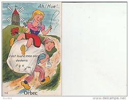 Orbec-Carte à Système Dépliant. - Orbec