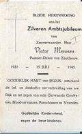 MA51/ ZOUTLEEUW AMBTSJUBILEUM 1945  E.H.VICTOR MEEUSEN - Religion & Esotericism