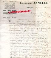 89- SENS-  RARE LETTRE MANUSCRITE SIGNEE LABORATOIRES EMILE JANELLE- PHARMACIEN HOPITAUX PARIS- 1936 - Documents Historiques