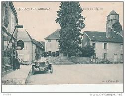 Toulon Sur Arroux-Place De L'Eglise.Edit.Collandin. - Autres Communes