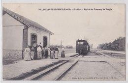 VILLENEUVE-LES-BORDES (77 Seine-et-Marne) - Train En Gare - Arrivée Du Tramway De Nangis - Cliché Simonet Bray-sur-Seine - France