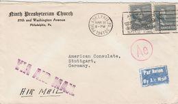 Etats Unis Lettre Censurée Pour L'Allemagne 1941 - Marcofilie