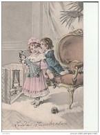 Illustration:Enfants Poupée Fauteuil. - Gruppen Von Kindern Und Familien
