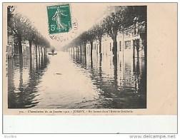 Joigny-712.L'Inondation Du 22 Janvier 1910.En Bateau Dans L'avenue Gambetta.Imp.Hamelin. - Joigny
