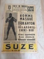 AFFICHE ORIGINALE 1953 / CATCH à NOGENT SUR MARNE - Affiches