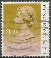 Hong Kong  - 1990 Queen Elizabeth II $1.40 Used   SG 609 - Hong Kong (...-1997)