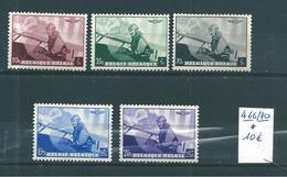 Belgique Timbres De 1938 N°466 A 470 Complet Neufs * - Belgium
