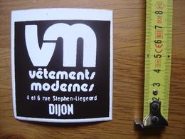 Autocollant Sticker VM Vetements Modernes Dijon - Autocollants