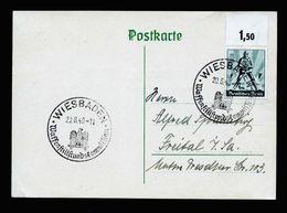 A5245) DR Karte Mit EF Mi.745 Und Sonderstempel Waffenstillstandskommission - Briefe U. Dokumente
