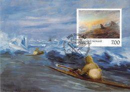 GROENLAND CARTE MAXIMUM  NUM.Yvert 316 ART PEINTURE  PETER ROSING - Cartes-Maximum (CM)