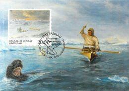 GROENLAND CARTE MAXIMUM  NUM.Yvert 317 ART PEINTURE  PETER ROSING - Cartes-Maximum (CM)