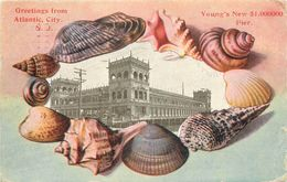 ATLANTIC CITY N.J. -  Carte 1900 Illustrée.(vendue En L'état) - Atlantic City