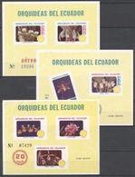 Equador 1980, Flowers, Orchids, 3BF - Ecuador