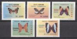 Equador 1997, Butterflies, 5val - Ecuador