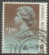 Hong Kong  - 1989 Queen Elizabeth II $1.80 Used   SG 610 - Hong Kong (...-1997)