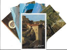GRECE GREECE  METEORA Météores Meteore- Lot De 6 Cartes CPM - Voir Scan R/V Des 6 Cartes (3 Cartes = Timbre Stamp Helas) - Grèce