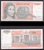 Jugoslawien , 50000000 Dinara, 1993 , P-123 , VF - Yugoslavia