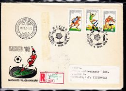 Beautiful Register Cover With Stamps Bulgaria - World Cup Mexico 1986. Football FIFA Cup - Magyar Posta. - World Cup