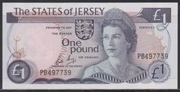 Jersey 1 Pound (ND 1976-1988) UNC - Jersey